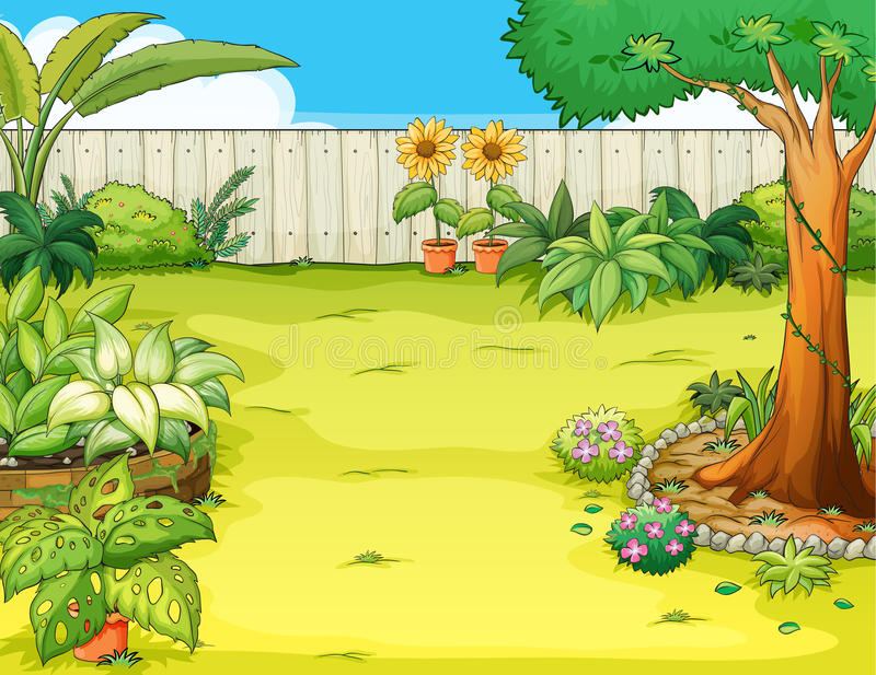 Ein schöner Garten vektor abbildung