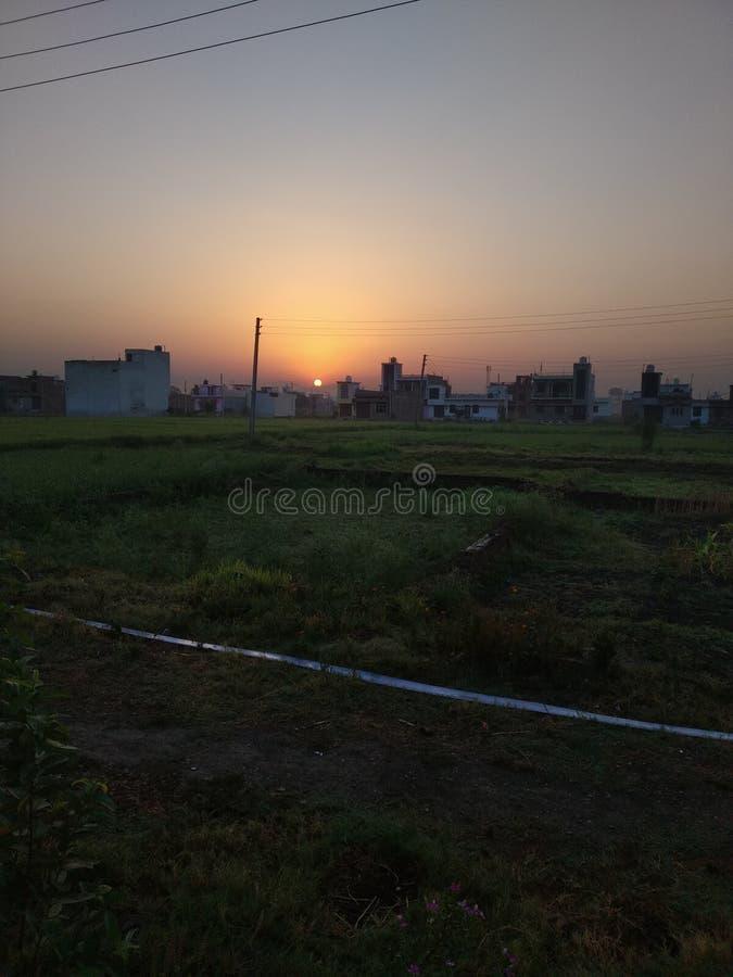 Ein schöner Morgen von uttarakhand Indien stockbilder
