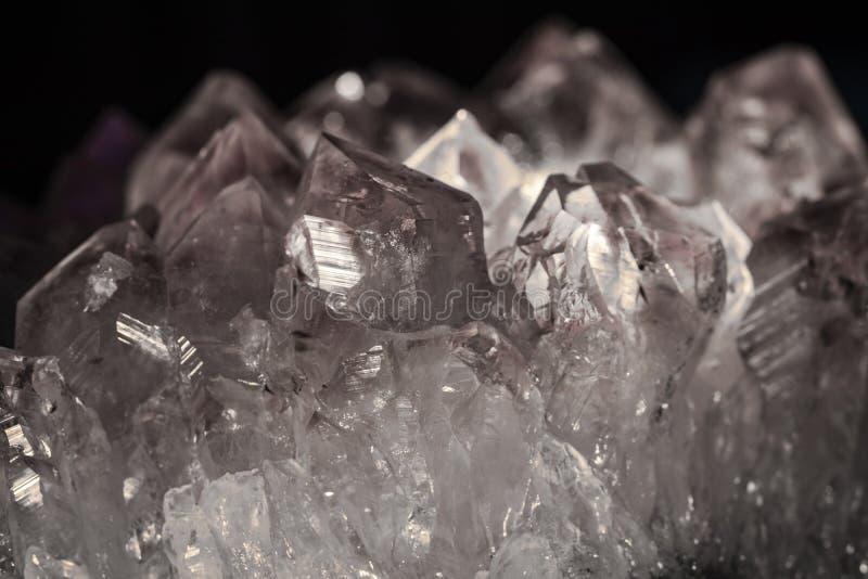 Ein schöner Quarz Crystal Close Up stockfoto