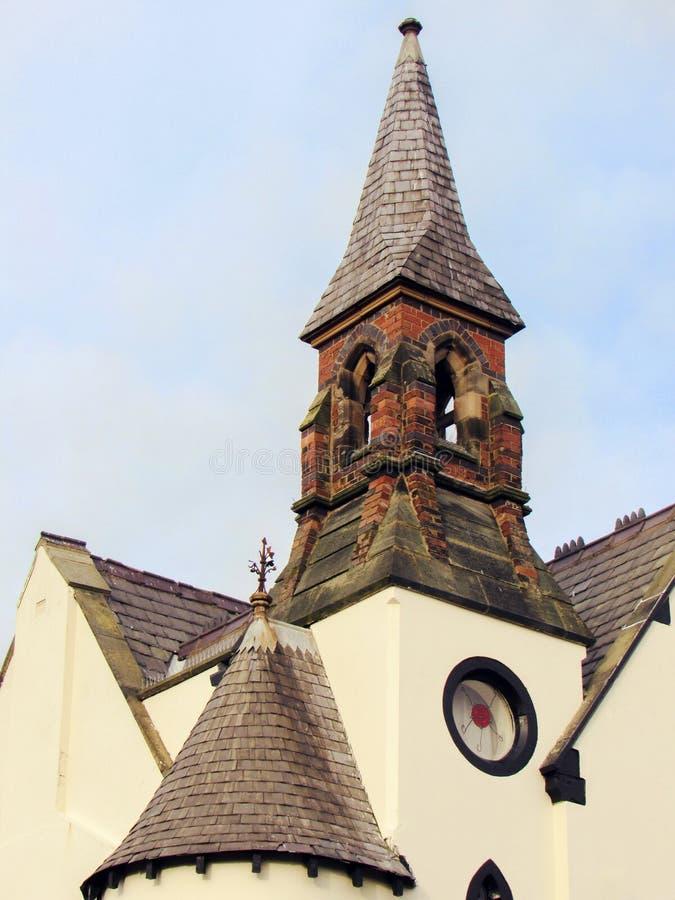 ein schönes beige Gebäude stockfoto