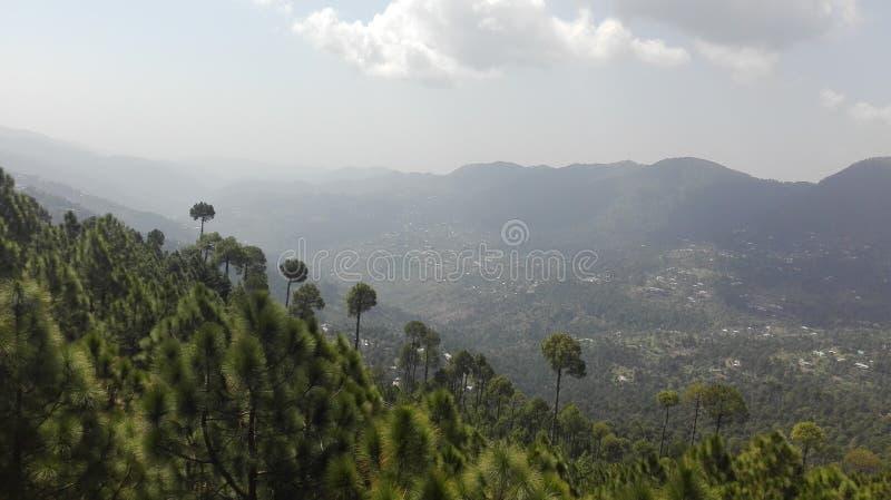 Ein schönes Greeeny und eine ruhige Szene von Patriata, Pakistan lizenzfreie stockbilder