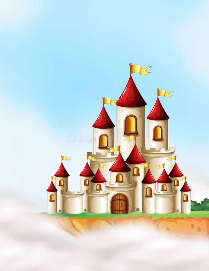 Ein schönes Märchenschloss lizenzfreie abbildung