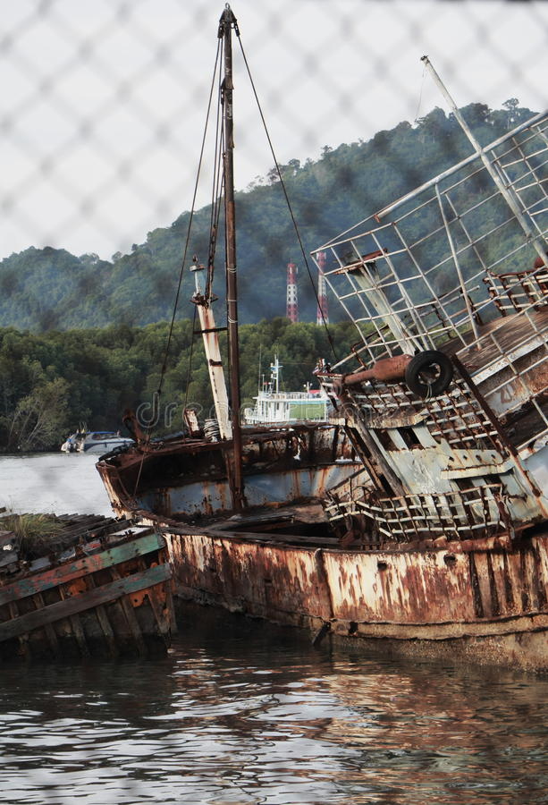 Ein Schiffbruch stockfoto