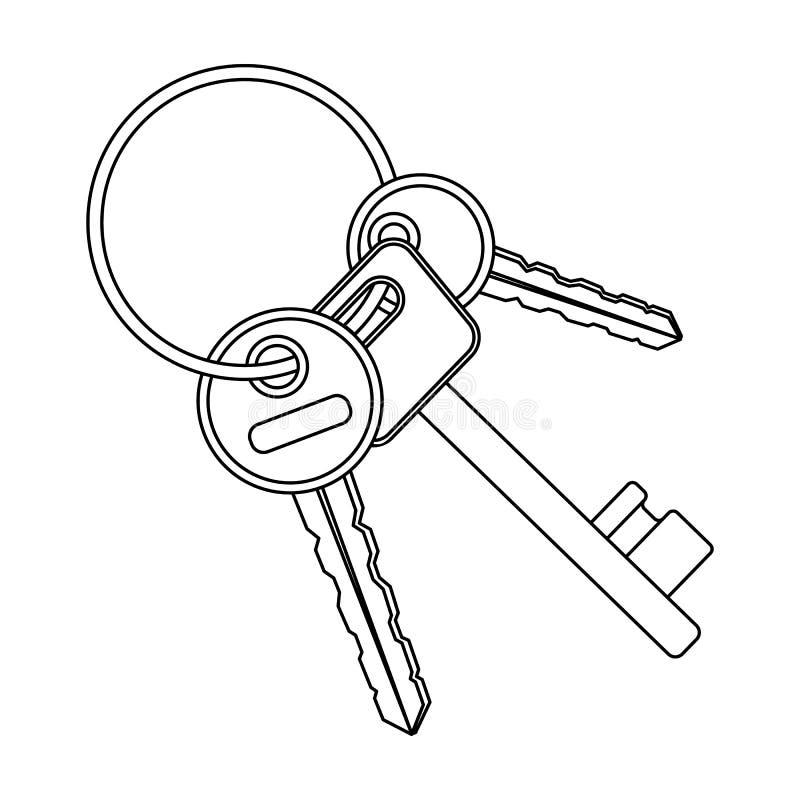 Ein Schlüsselbund stock abbildung