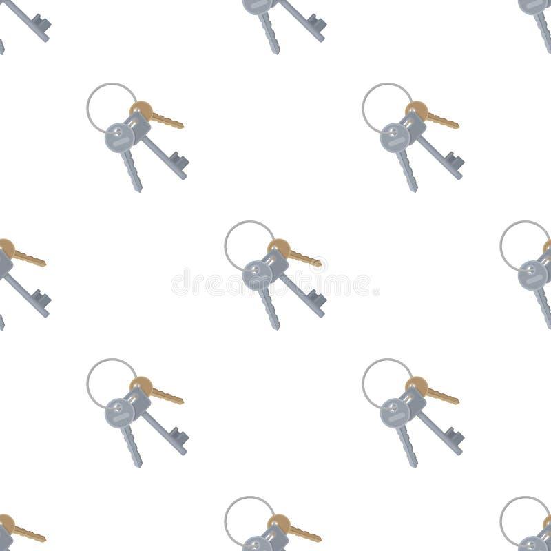 Ein Schlüsselbund von den Zellen im Gefängnis Schlüssel für öffnende Verbrecher vektor abbildung