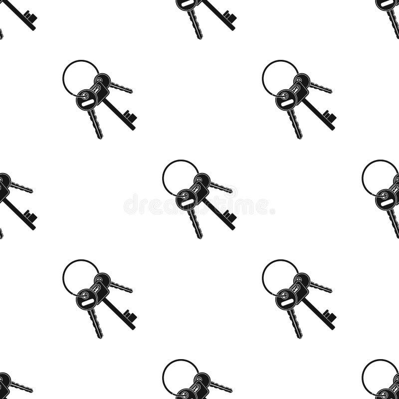 Ein Schlüsselbund von den Zellen im Gefängnis Schlüssel für öffnende Verbrecher Einzelne Ikone des Gefängnisses im schwarzen Artv stock abbildung