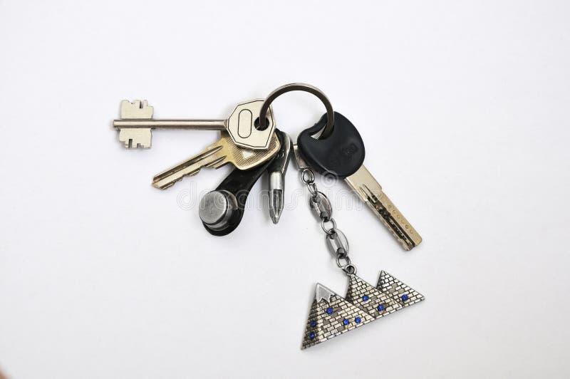 Ein Schlüsselbund von der Wohnung lizenzfreies stockfoto
