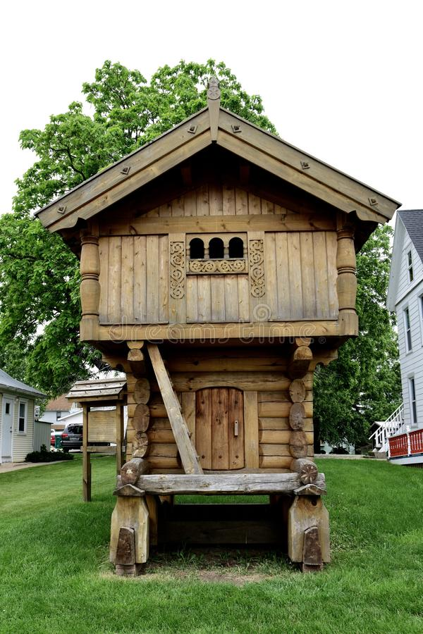 Ein Schleppangel-Haus stockfotos