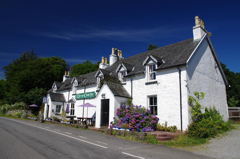 Ein schottisches Gasthaus lizenzfreie stockfotos