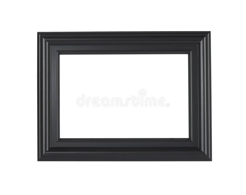 Ein schwarzer Bilderrahmen, getrennt mit Ausschnittspfad lizenzfreie stockfotos