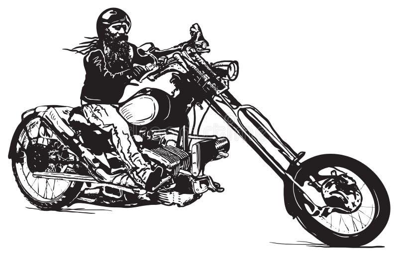 Ein schwarzer Reiter, ein Hand gezeichneter Vektor, freihändig vektor abbildung