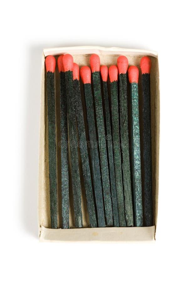 Ein schwarzes Match stockfotografie