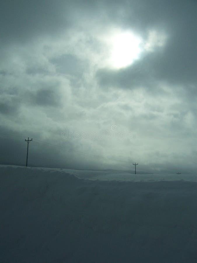 Ein schwerer Winter in ländlichem Amerika lizenzfreie stockfotos