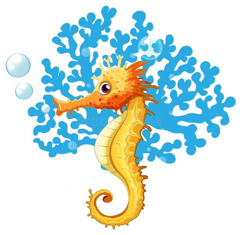 Ein Seahorse Unterwasser stock abbildung