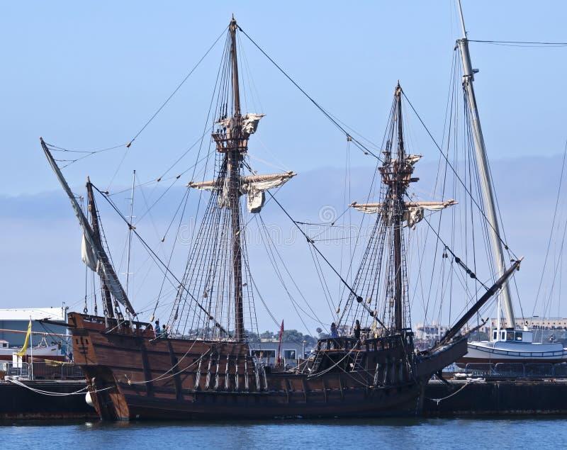 Ein Seemuseum von San Diego San Salvador Shot stockbild