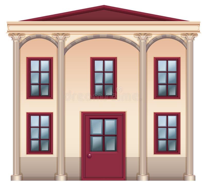 Ein sehr großes Haus lizenzfreie abbildung