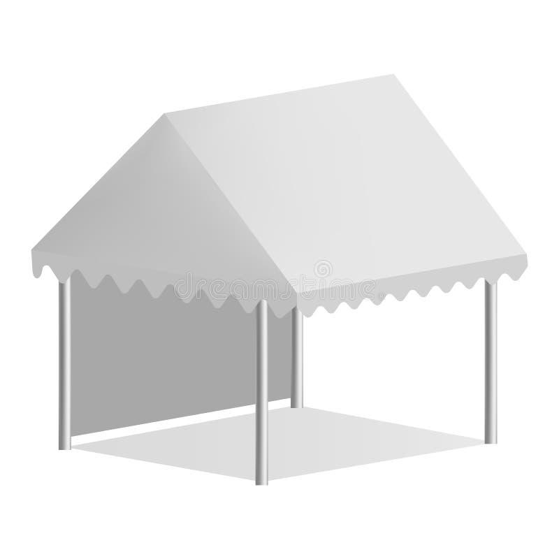 Ein Seitenzeltmodell, realistische Art lizenzfreie abbildung