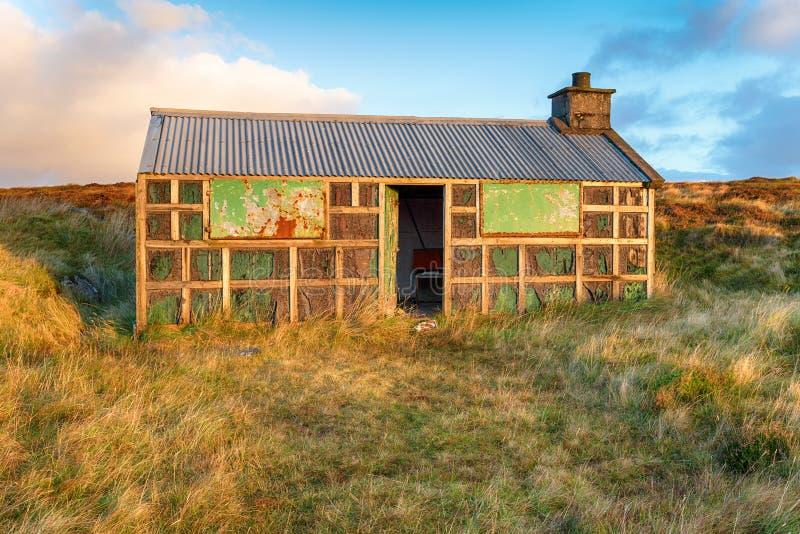 Ein Shieling auf der Insel von Lewis lizenzfreies stockfoto