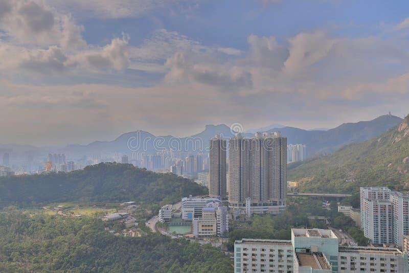 ein Shun Lee-Bezirk an kwun Zange stockfoto