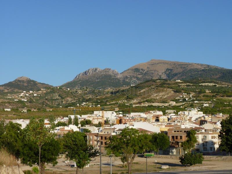 Ein Sommertag in Torredelcampo, Jaen, Andalusien, Spanien lizenzfreies stockfoto