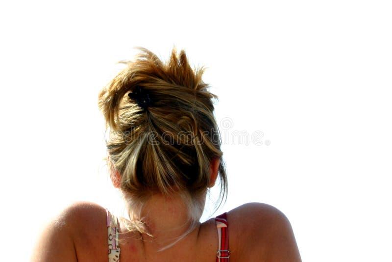 Ein Sonnenbad nehmendes Mädchen stockfotografie