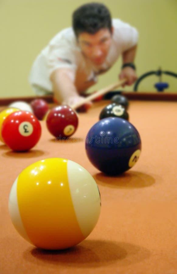 Ein Spiel des Pools lizenzfreie stockfotos