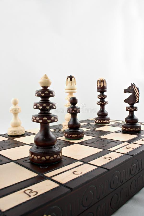 Ein Spiel des Schachs stockbilder