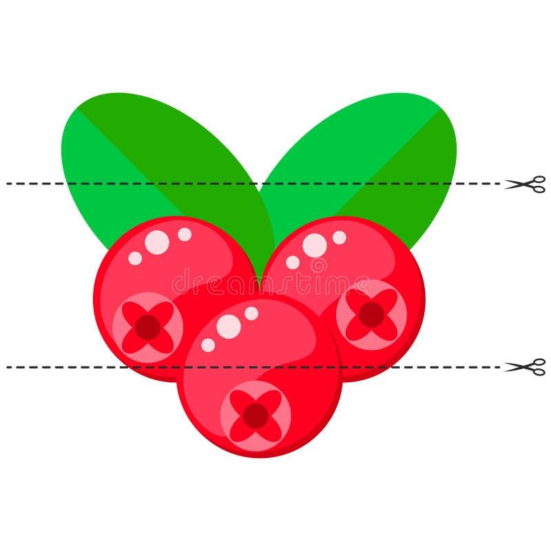 Ein Spiel für Kinder des Vorschulalters Schneiden Sie das Bild in Stücke Falten Sie sich in der rechten Bestellung mosaik moosbee lizenzfreie abbildung