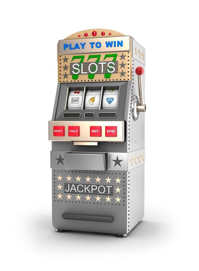 Ein Spielautomat, Glücksspielmaschine. lizenzfreie abbildung