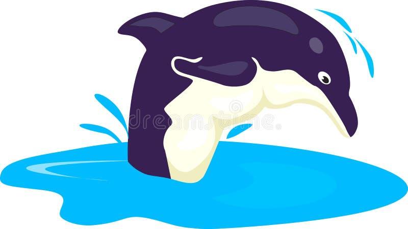 Ein springender Delphin stock abbildung
