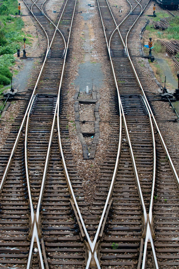 Ein Stück der Schiene stockfoto