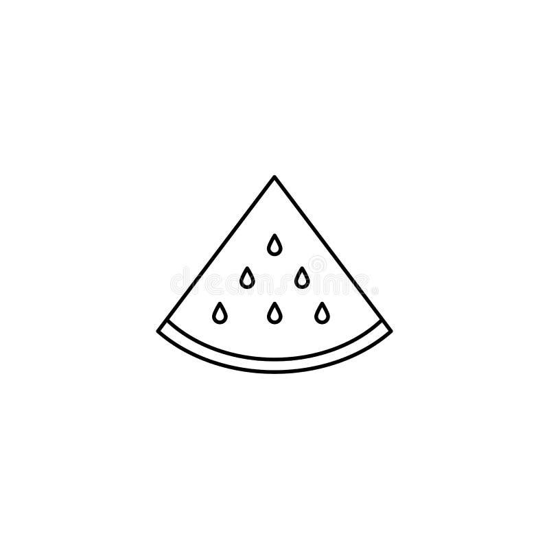Ein Stück der Wassermelonenikone vektor abbildung