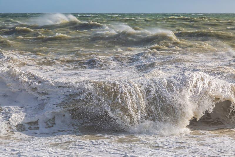 Ein stürmischer Meerblick lizenzfreies stockbild