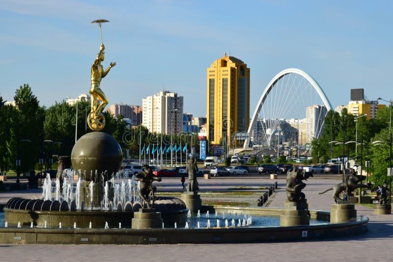 Ein Stadtbild von Astana/von Kasachstan lizenzfreie stockfotografie