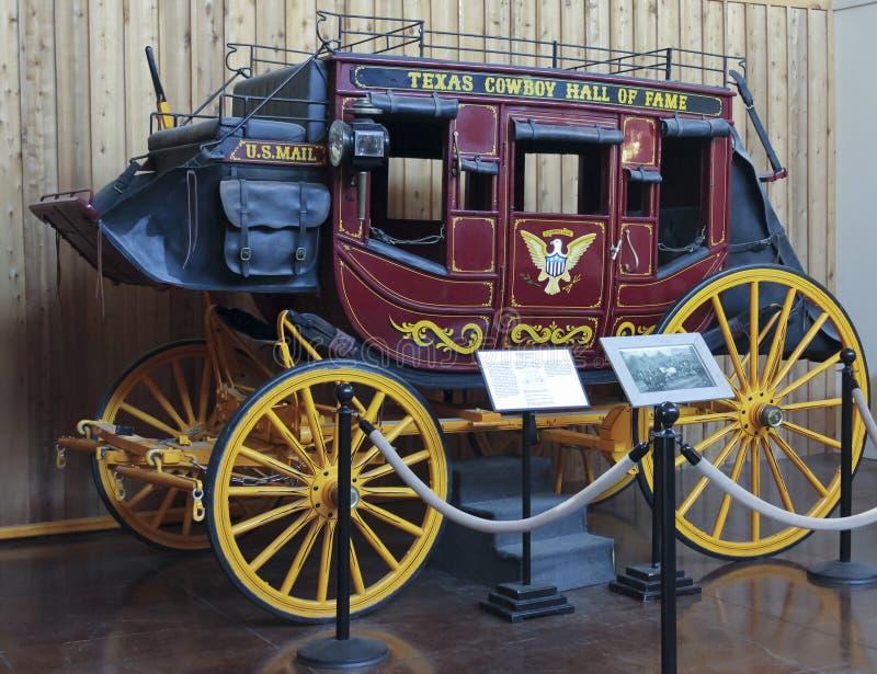 Ein Stagecoach bei Texas Cowboy Hall des Ruhmes stockfoto