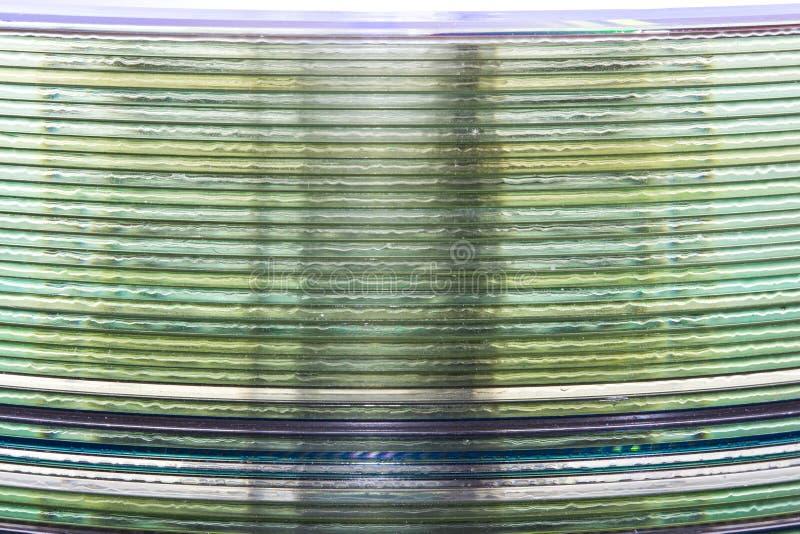 Ein Stapel Musik CDs stockbilder
