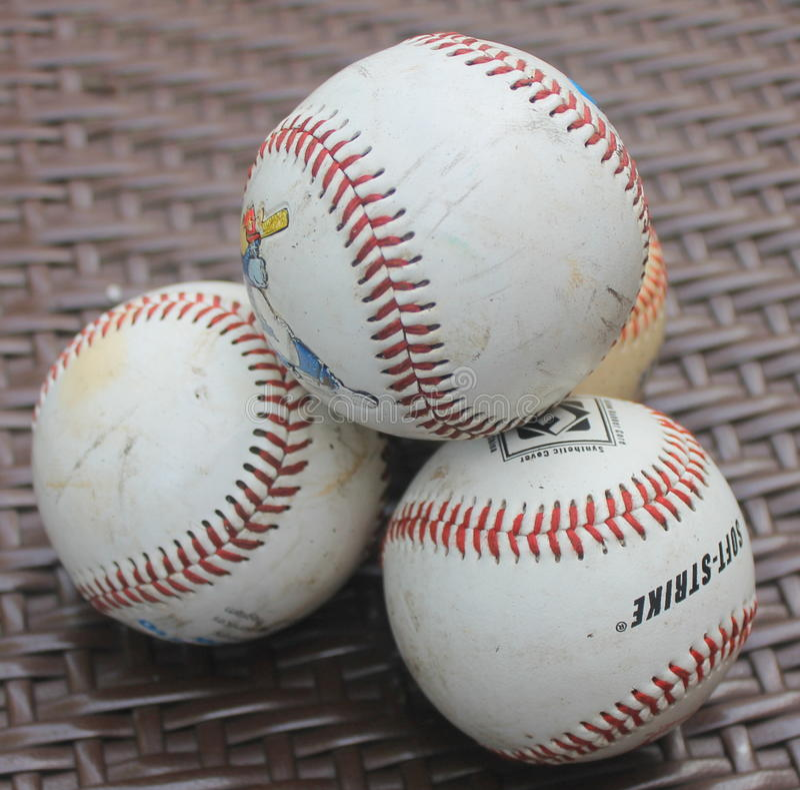 Ein Stapel von Baseball stockfotografie
