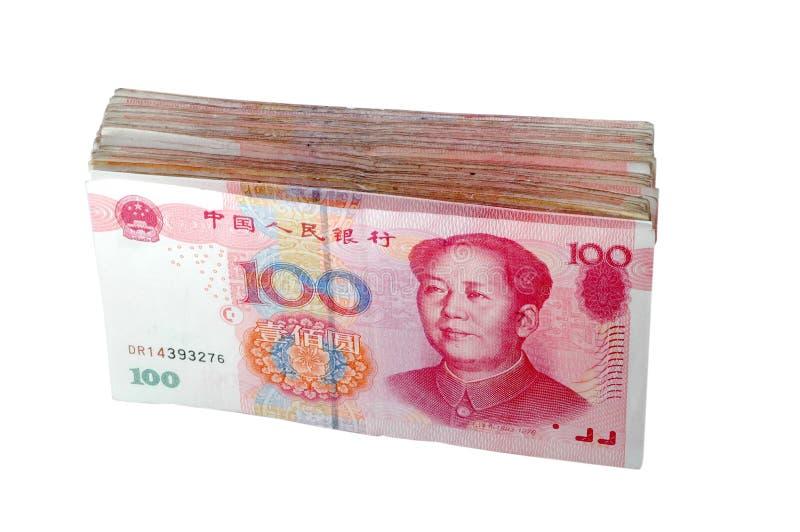 Ein Stapel von RMB lizenzfreies stockbild