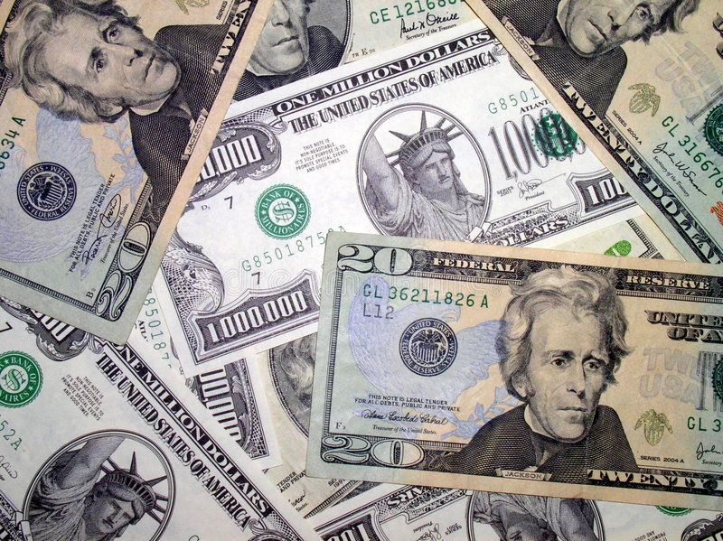 Ein Stapel von US-Dollars lizenzfreies stockbild