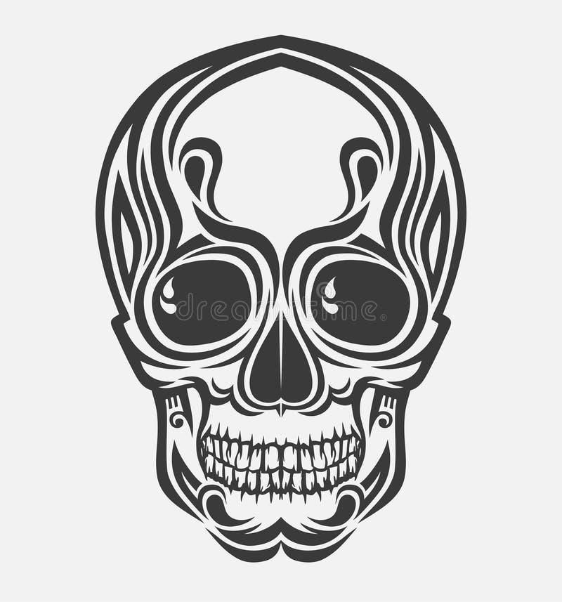 Download Ein Stilisiert Vektorschädel Vektor Abbildung - Illustration von gefahr, menschlich: 12203660