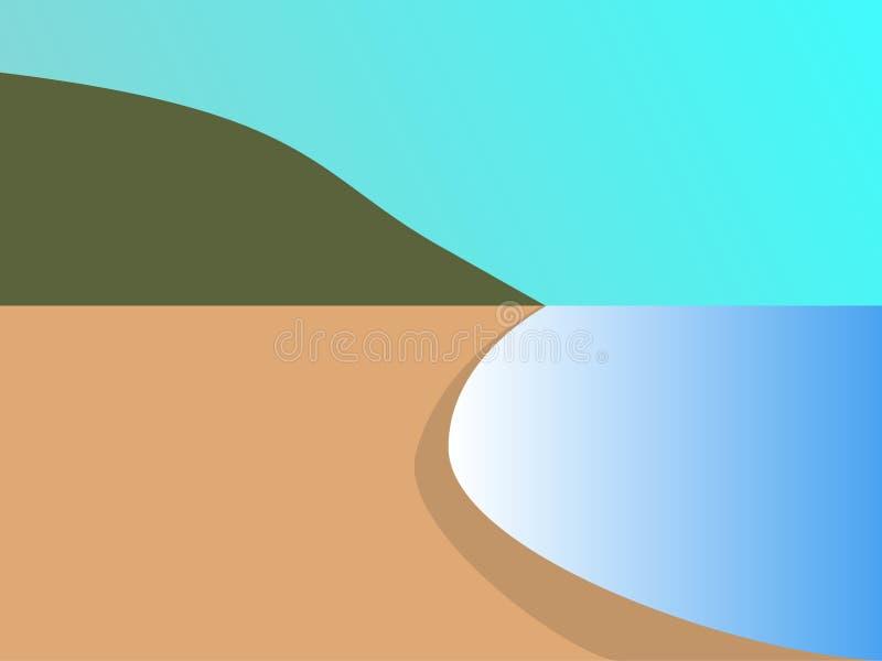 Ein Strand lizenzfreie stockfotos