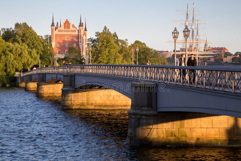 Ein Summer' s-Tag in Stockholm lizenzfreie stockbilder