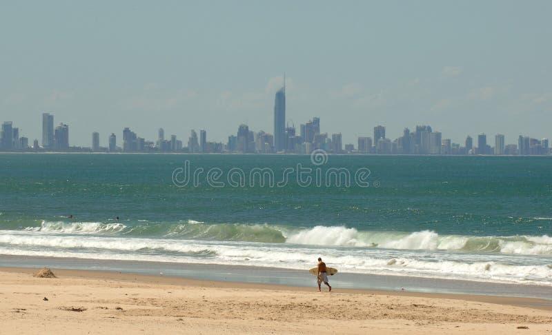 Die Gold- CoastSkyline - Brisbane lizenzfreies stockbild