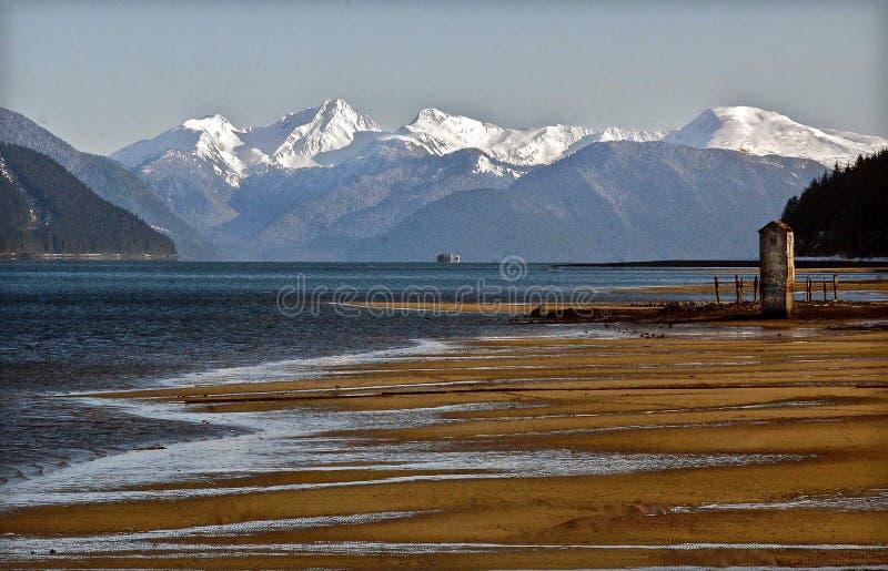 Ein Tag bei Sandy Beach, Alaska stockbild