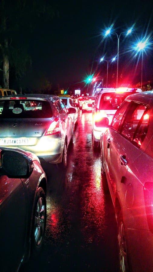 Ein Tag im Verkehr stockbilder