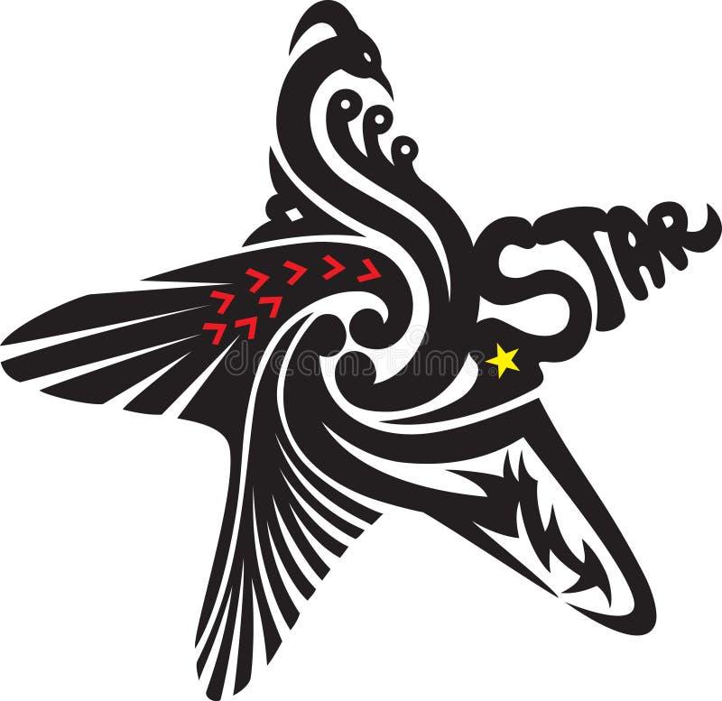 Ein Tatoo Stern lizenzfreie abbildung