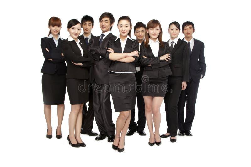 Ein Team von Geschäftsleuten stockfotografie