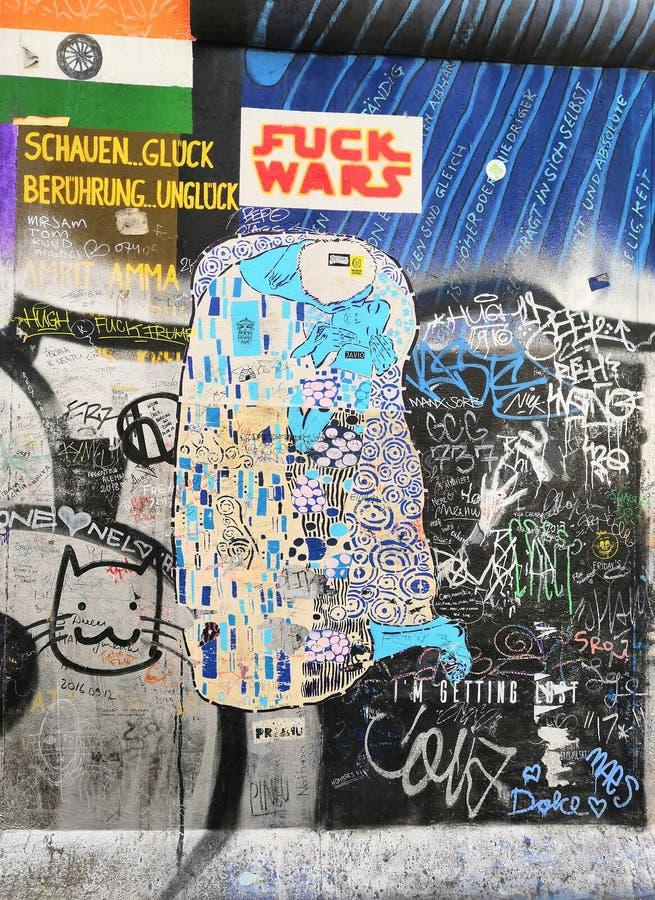 Ein Teil von Berliner Mauer lizenzfreies stockbild