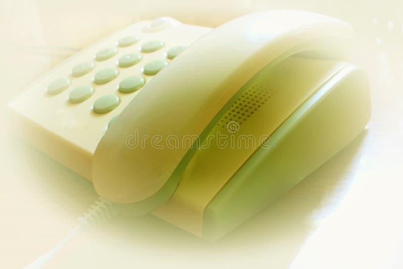 Ein Telefon mit einer verdrahteten Verbindung lizenzfreie stockbilder