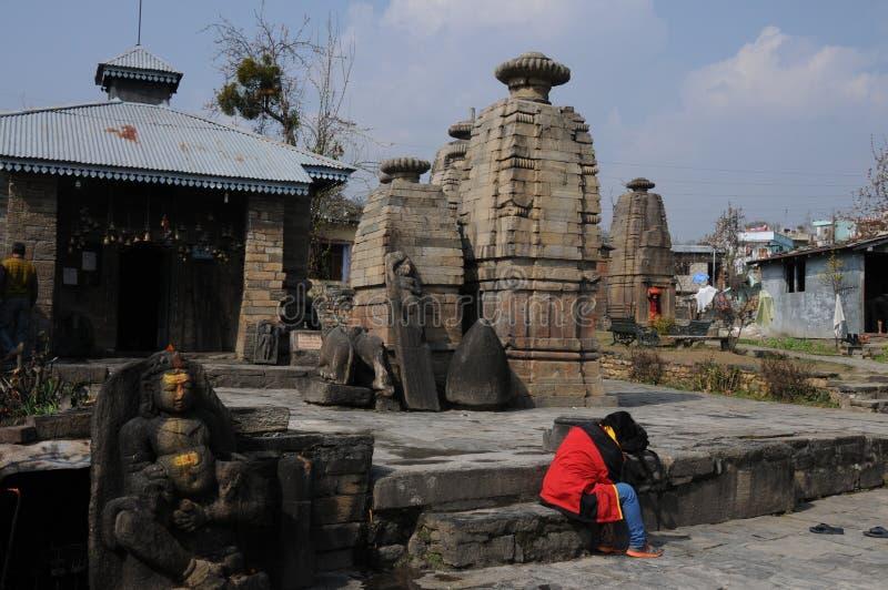 Ein Tempel bei Kausani, Indien lizenzfreie stockfotos
